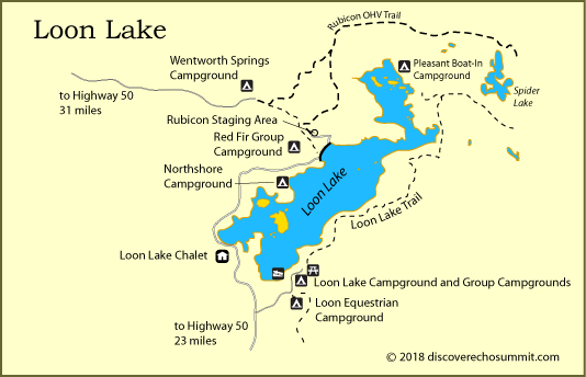 map of Loon Lake, El Dorado National Forest, CA