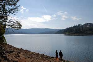 Fishing at Ice House Reservoir, Tahoe National Forest, CA