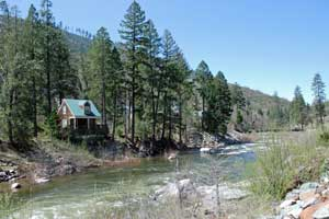 Photo of cabin on South Fork American River near Kyburz,  CA