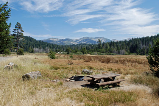 Photo of Van Vleck Bunkhouse view, Eldorado National Forest, CA